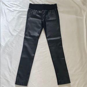 Club Monaco black leather leggings